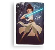 May The Force Be With Rey Canvas Print