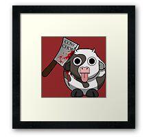 Cow Chop Bloody Knife BG Framed Print
