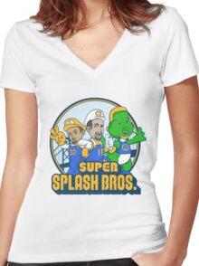 Super Splash Bros Vol 2 Women's Fitted V-Neck T-Shirt