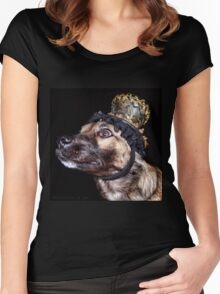 Mardi Gras Puppy 1 Women's Fitted Scoop T-Shirt