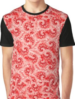 Red Tie Dye Print Graphic T-Shirt