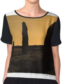 Ancient Monument Chiffon Top