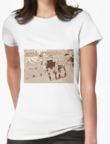 Cattle Drive 3 Womens Fitted T-Shirt