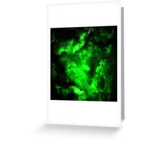 Envy - Abstract In Neon Green And Black Greeting Card