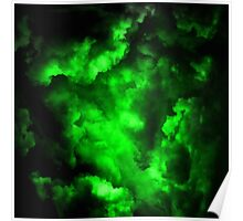 Envy - Abstract In Neon Green And Black Poster