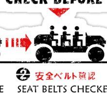 Seat Belt Check Sticker