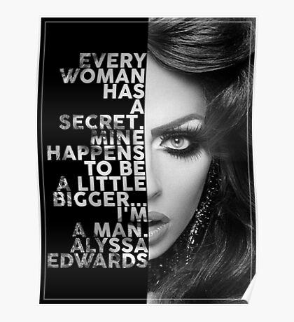 Alyssa Edwards Text portrait Poster