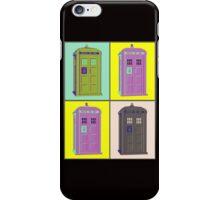 TIMEY WIMEY WARHOL TARDIS 1 iPhone Case/Skin