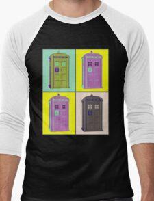 TIMEY WIMEY WARHOL TARDIS 1 Men's Baseball ¾ T-Shirt