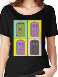 TIMEY WIMEY WARHOL TARDIS 1 Women's Relaxed Fit T-Shirt