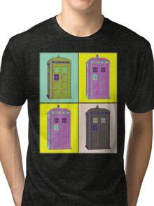 TIMEY WIMEY WARHOL TARDIS 1 Tri-blend T-Shirt
