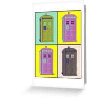 TIMEY WIMEY WARHOL TARDIS 1 Greeting Card