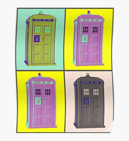 TIMEY WIMEY WARHOL TARDIS 1 Poster