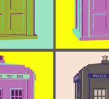 TIMEY WIMEY WARHOL TARDIS 1 Sticker