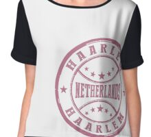 Stamp City Of Haarlem Chiffon Top