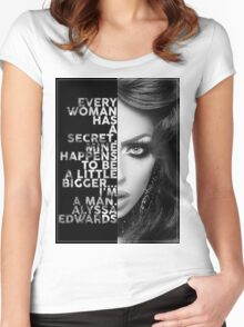 Alyssa Edwards Text portrait Women's Fitted Scoop T-Shirt