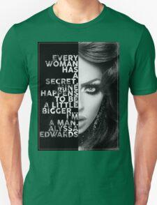 Alyssa Edwards Text portrait T-Shirt