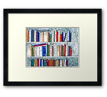 complete works of Shakespeare bookcase Framed Print