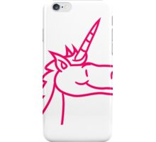 unicorn unicorn face head cartoon comic ride gallop pony horse funny sweet cute iPhone Case/Skin