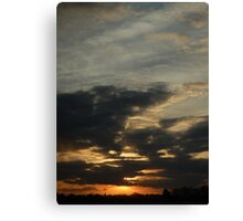 Watch the sunset Canvas Print