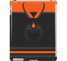 Edmonton Oilers Diehards (Black & Orange) Jersey iPad Case/Skin