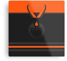 Edmonton Oilers Diehards (Black & Orange) Jersey Metal Print