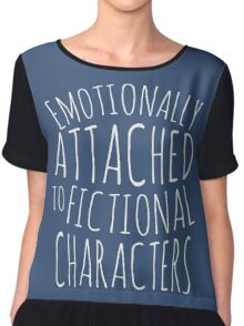 emotionally attached to fictional characters #white Chiffon Top