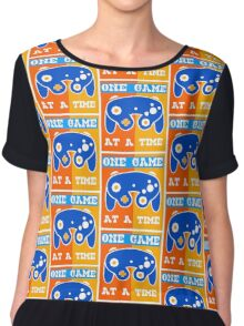 ONE GAME AT A TIME-2 Chiffon Top