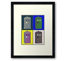 TIMEY WIMEY WARHOL TARDIS 2 Framed Print