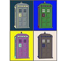 TIMEY WIMEY WARHOL TARDIS 2 Photographic Print
