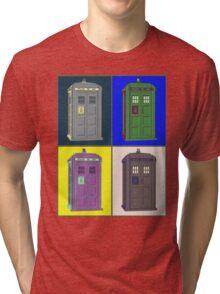 TIMEY WIMEY WARHOL TARDIS 2 Tri-blend T-Shirt