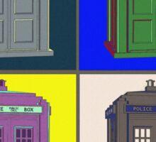 TIMEY WIMEY WARHOL TARDIS 2 Sticker