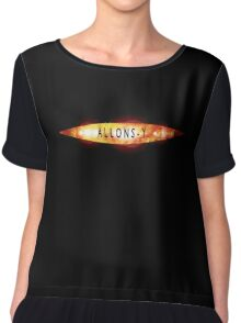 Allons-y Old Doctor Who Logo Chiffon Top