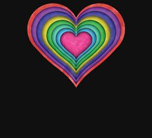 Color Heart Cut Outs Unisex T-Shirt