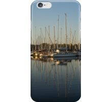 Reflecting on Yachts and Sailboats iPhone Case/Skin