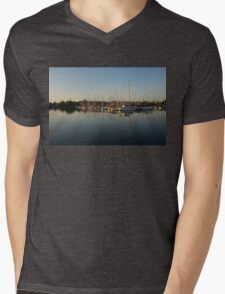 Reflecting on Yachts and Sailboats Mens V-Neck T-Shirt