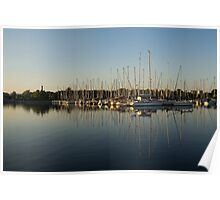 Reflecting on Yachts and Sailboats Poster