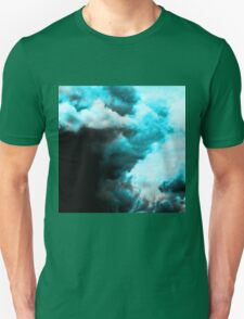 Relaxed - Cloudy Abstract In Blue And Black T-Shirt