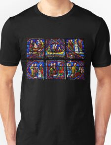 Chartres Stained Glass Window - Life of Saint Apollonaire T-Shirt