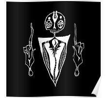 satanic dude just chillin (inverse) Poster