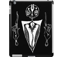 satanic dude just chillin (inverse) iPad Case/Skin