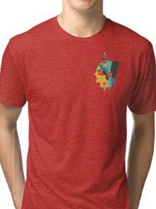 Flate Design Gypsy Tattoo Tri-blend T-Shirt