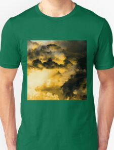 Vitality - Cloudy Abstract In Orange And Black T-Shirt