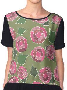 Dusty Roses Chiffon Top