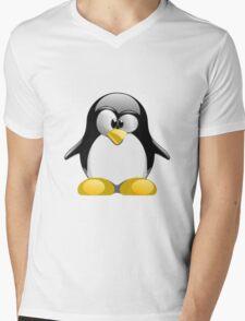 Tux illustration  Mens V-Neck T-Shirt