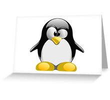 Tux illustration  Greeting Card