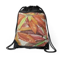 Rainforest Leaves Drawstring Bag