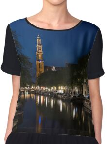 11:05PM Blue Hour - Magical Amsterdam in June Chiffon Top