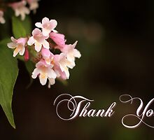 Floral Thank You Card by Tracy Friesen