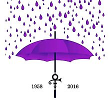 purple rain Photographic Print